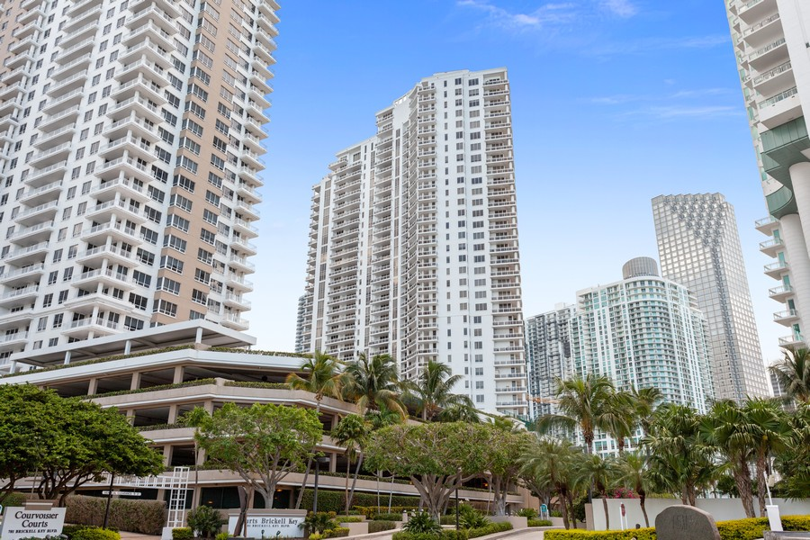 Real Estate Photography - 901 Brickell Key Blvd #2203, Miami, FL, 33131 - Front View