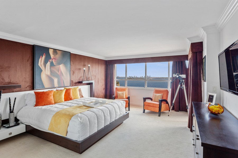 Real Estate Photography - 3 Grove Isle Dr. #C1703, Miami, FL, 33133 - Master Bedroom