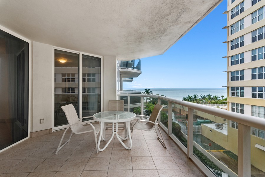 Real Estate Photography - 4775 Collins Ave., Unit 504, Miami Beach, FL, 33140 - Terrace