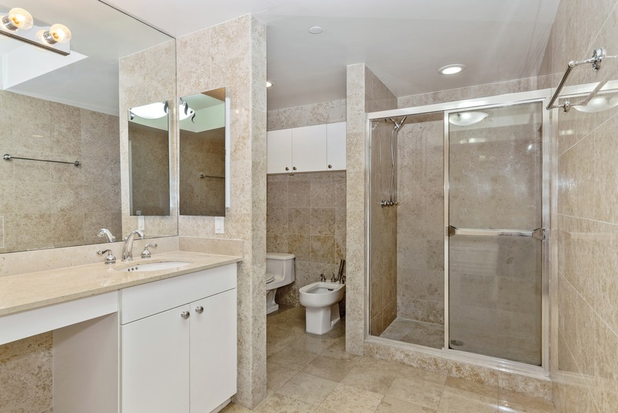 Real Estate Photography - 4775 Collins Ave., Unit 504, Miami Beach, FL, 33140 - Master Bathroom