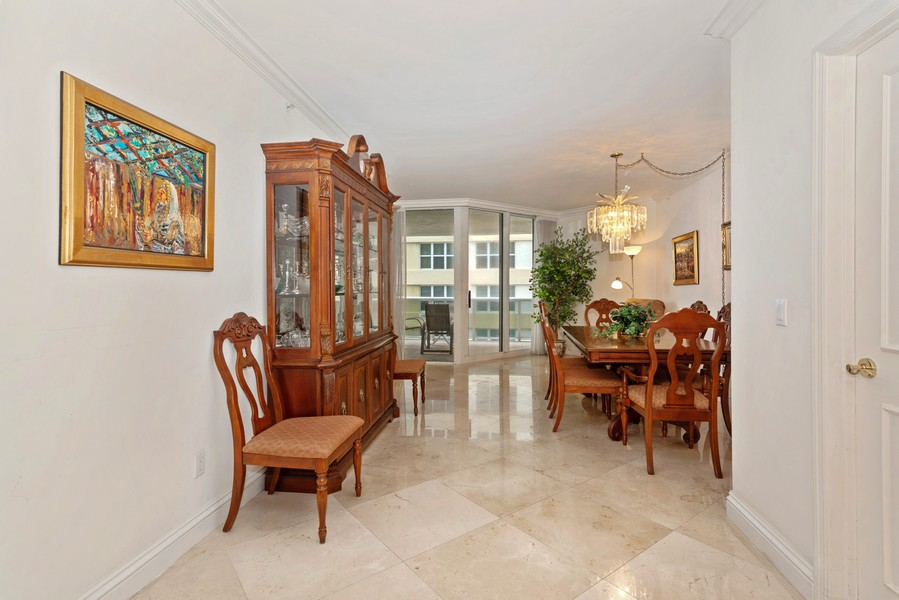 Real Estate Photography - 4775 Collins Ave., Unit 504, Miami Beach, FL, 33140 - Dining Room