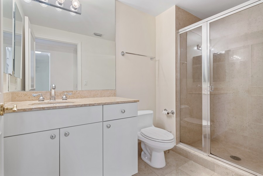 Real Estate Photography - 4775 Collins Ave., Unit 504, Miami Beach, FL, 33140 - 2nd Bathroom