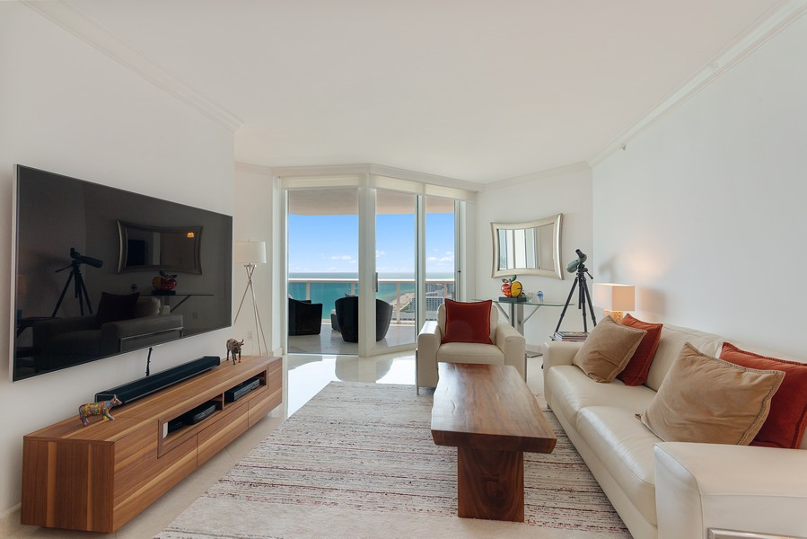 Real Estate Photography - 4775 Collins Ave., Unit 3804, Miami Beach, FL, 33140 - Living Room