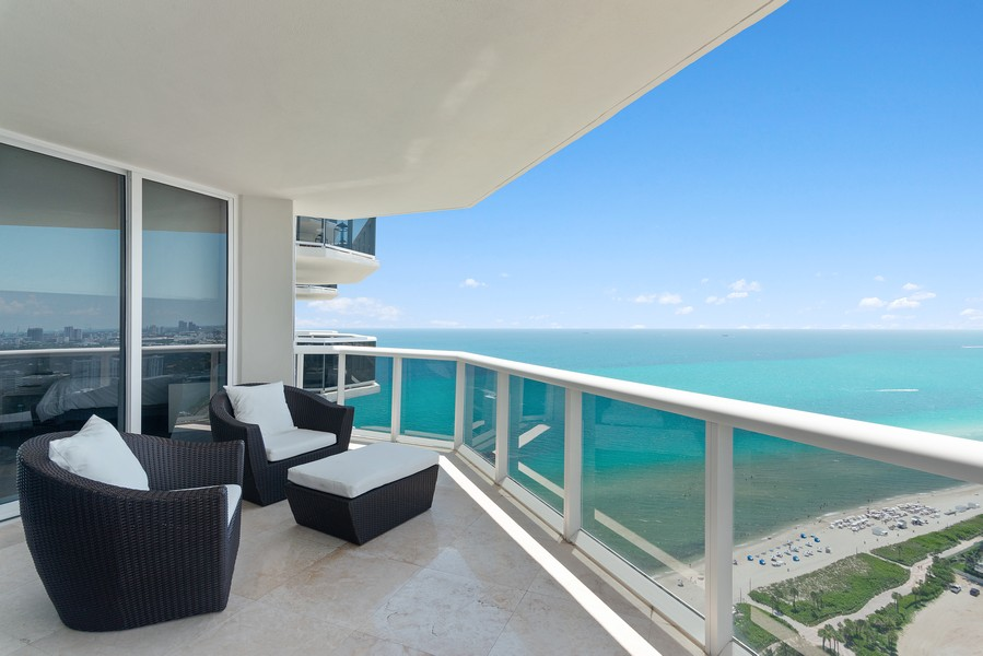 Real Estate Photography - 4775 Collins Ave., Unit 3804, Miami Beach, FL, 33140 - Terrace