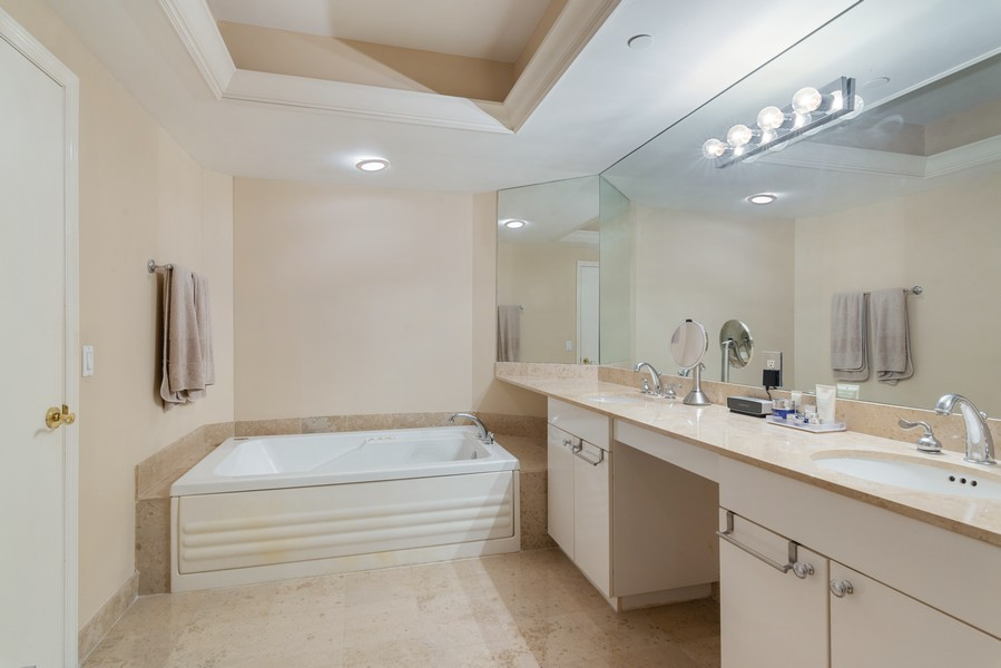 Real Estate Photography - 4775 Collins Ave., Unit 3804, Miami Beach, FL, 33140 - Master Bathroom