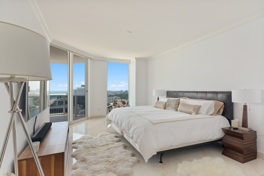 Real Estate Photography - 4775 Collins Ave., Unit 3804, Miami Beach, FL, 33140 - Master Bedroom