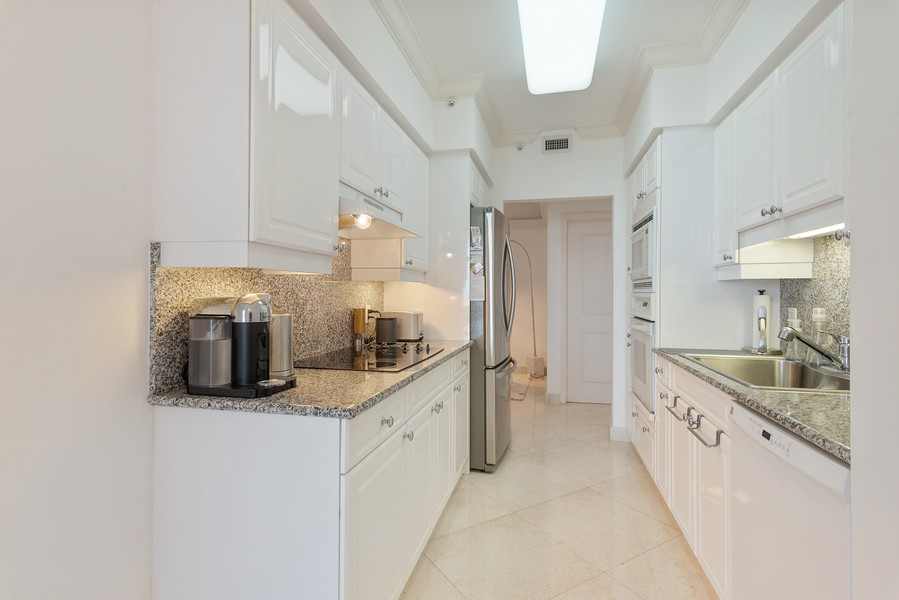 Real Estate Photography - 4775 Collins Ave., Unit 3804, Miami Beach, FL, 33140 - Kitchen