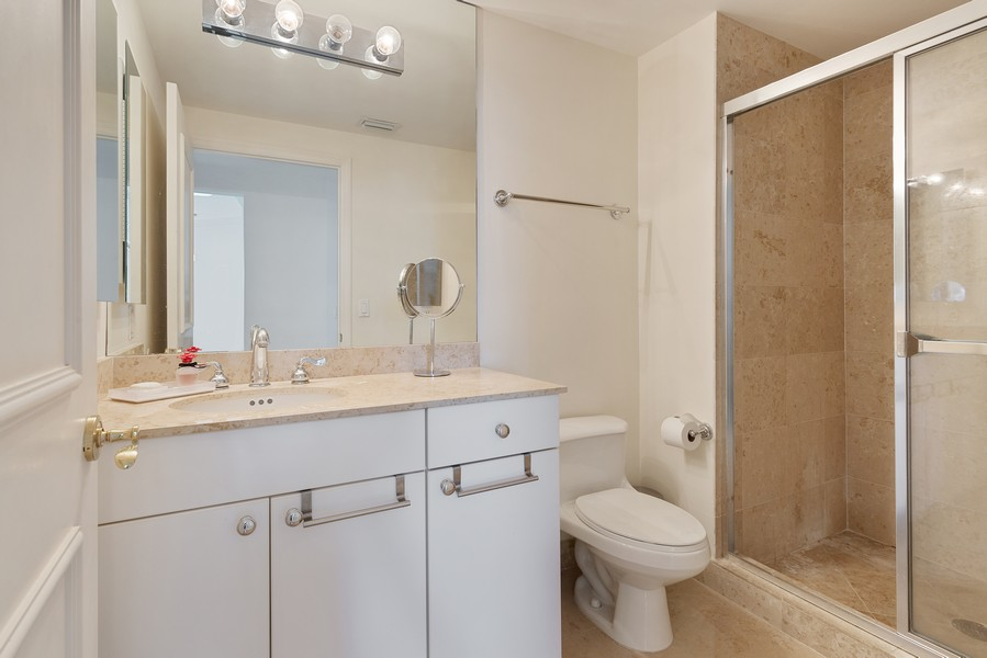 Real Estate Photography - 4775 Collins Ave., Unit 3804, Miami Beach, FL, 33140 - 2nd Bathroom