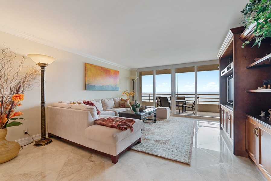 Real Estate Photography - 4101 N Ocean, Unit 1508, Boca Raton, FL, 33431 - Living Room