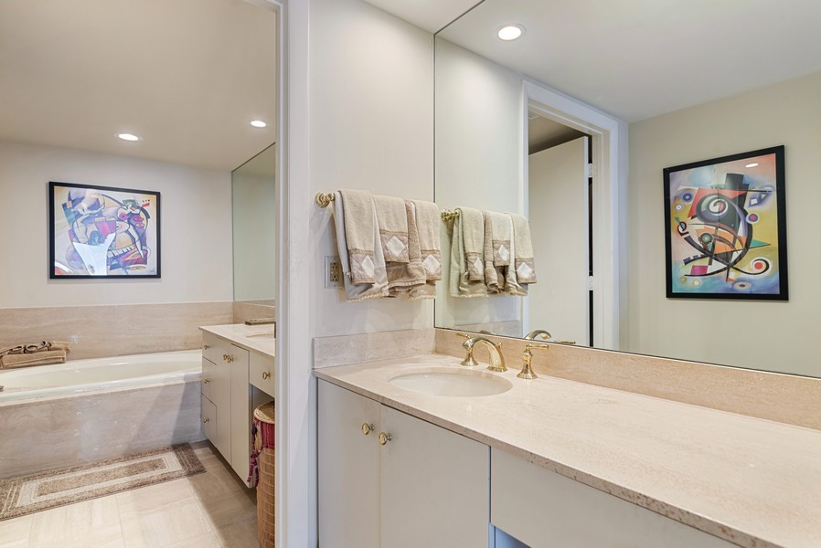 Real Estate Photography - 4101 N Ocean, Unit 1508, Boca Raton, FL, 33431 - Master Bathroom