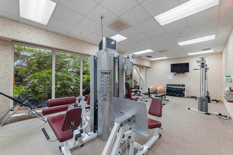 Real Estate Photography - 4101 N Ocean, Unit 1508, Boca Raton, FL, 33431 - Gym