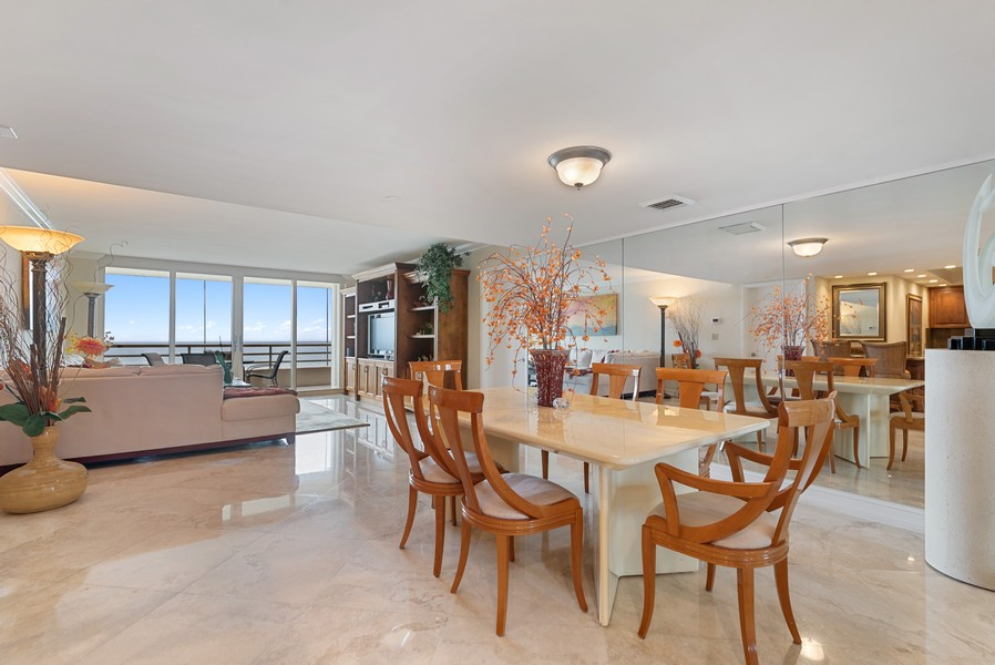 Real Estate Photography - 4101 N Ocean, Unit 1508, Boca Raton, FL, 33431 - Living Room / Dining Room