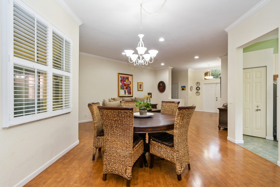 Real Estate Photography - 818 Lavender Circle, Weston, FL, 33327 - Dining Room