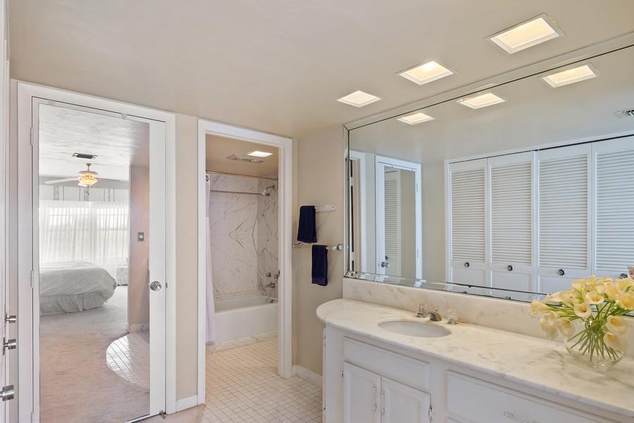Real Estate Photography - 3750 GALT OCEAN DRIVE UNIT 407, FORT LAUDERDALE, FL, 33304 - Master Bathroom