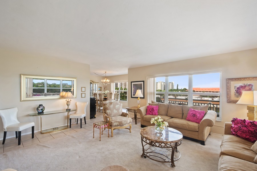 Real Estate Photography - 3750 GALT OCEAN DRIVE UNIT 407, FORT LAUDERDALE, FL, 33304 - Living Room