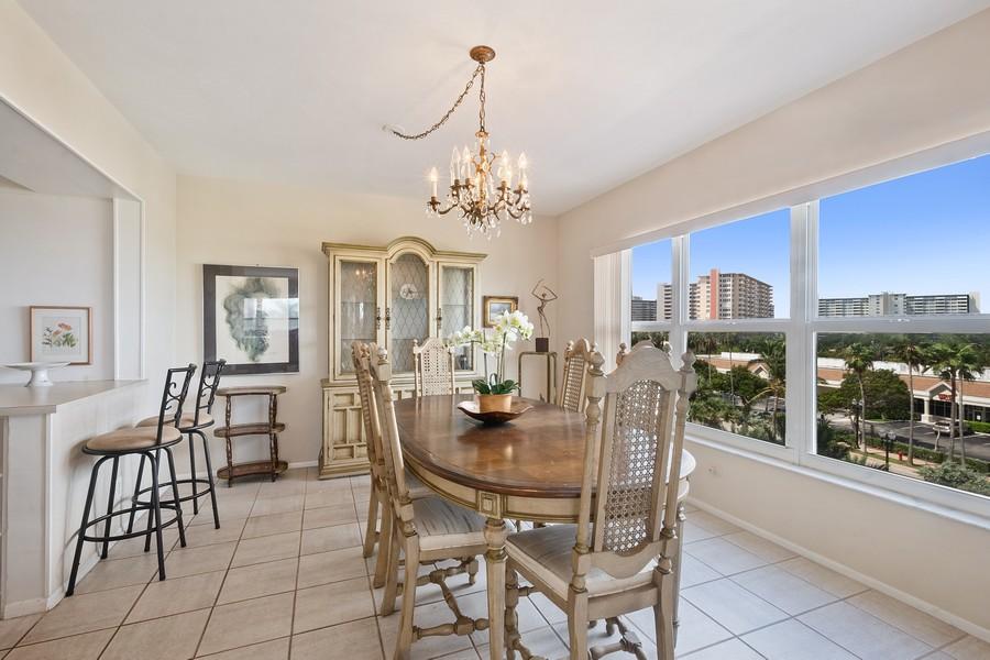 Real Estate Photography - 3750 GALT OCEAN DRIVE UNIT 407, FORT LAUDERDALE, FL, 33304 - Dining Room