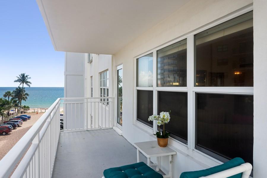 Real Estate Photography - 3750 GALT OCEAN DRIVE UNIT 407, FORT LAUDERDALE, FL, 33304 - Balcony