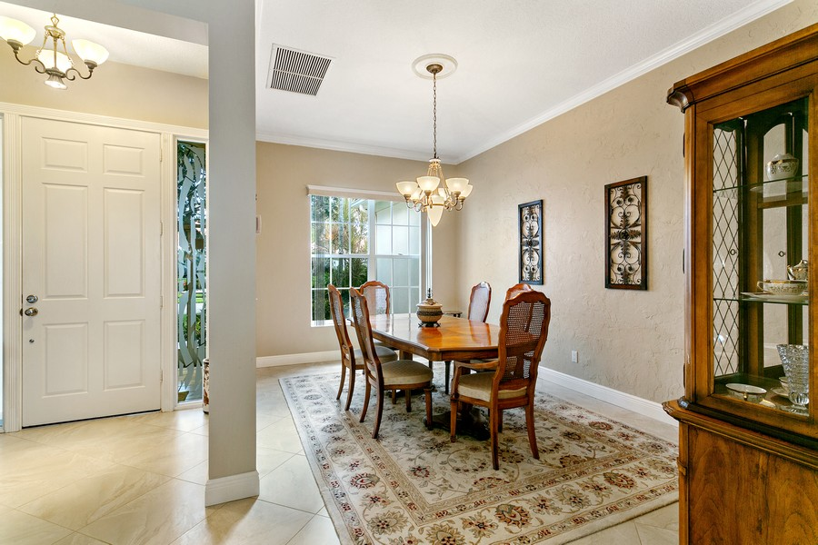 Real Estate Photography - 2705 Hancock Creek Road, West Palm Beach, FL, 33411 - Dining Room