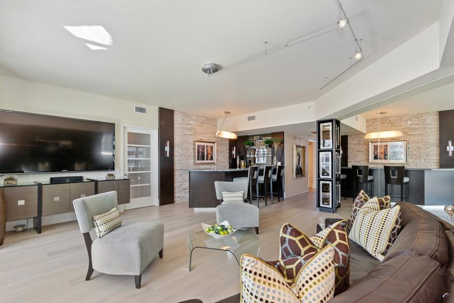 Real Estate Photography - 333 Las Olas Way, Unit 2406, Fort Lauderdale, FL, 33301 - Living Room
