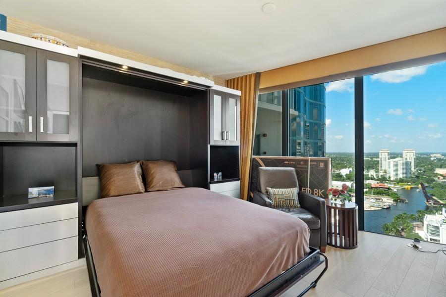 Real Estate Photography - 333 Las Olas Way, Unit 2406, Fort Lauderdale, FL, 33301 - Bedroom