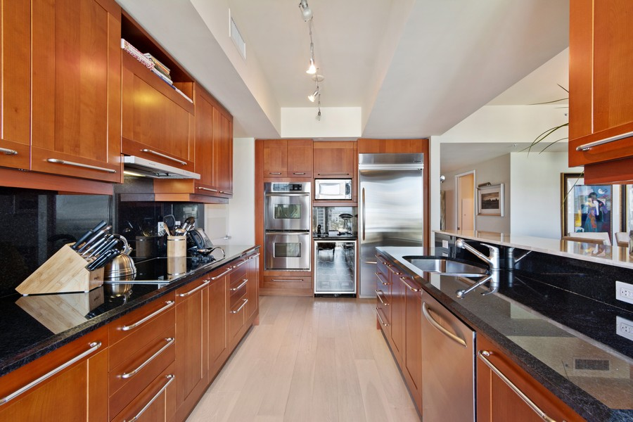 Real Estate Photography - 333 Las Olas Way, Unit 2406, Fort Lauderdale, FL, 33301 - Kitchen