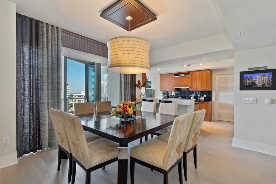 Real Estate Photography - 333 Las Olas Way, Unit 2406, Fort Lauderdale, FL, 33301 - Kitchen / Dining Room