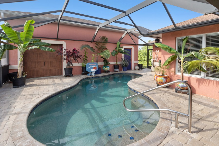 Real Estate Photography - 728 Cane Street East, Lehigh Acres, FL, 33974 - Pool