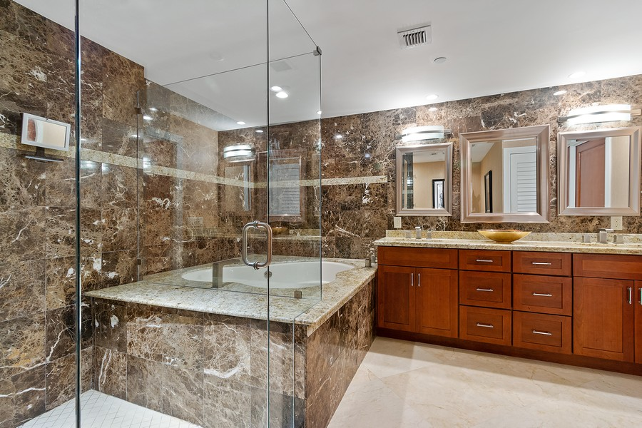 Real Estate Photography - 2845 NE 9th St, Unit 905, Fort Lauderdale, FL, 33304 - Master Bathroom