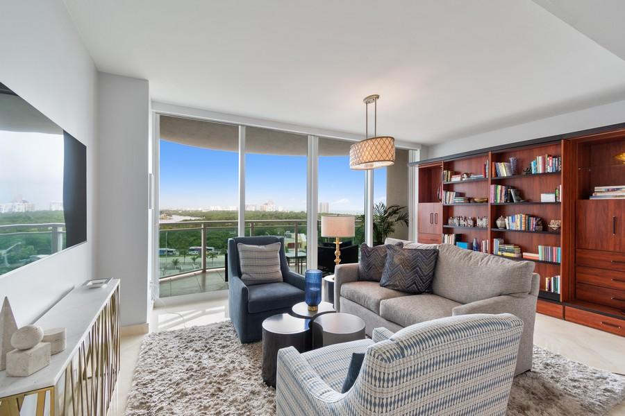 Real Estate Photography - 2845 NE 9th St, Unit 905, Fort Lauderdale, FL, 33304 - Master Bedroom #2 - Murphy Bed/Den