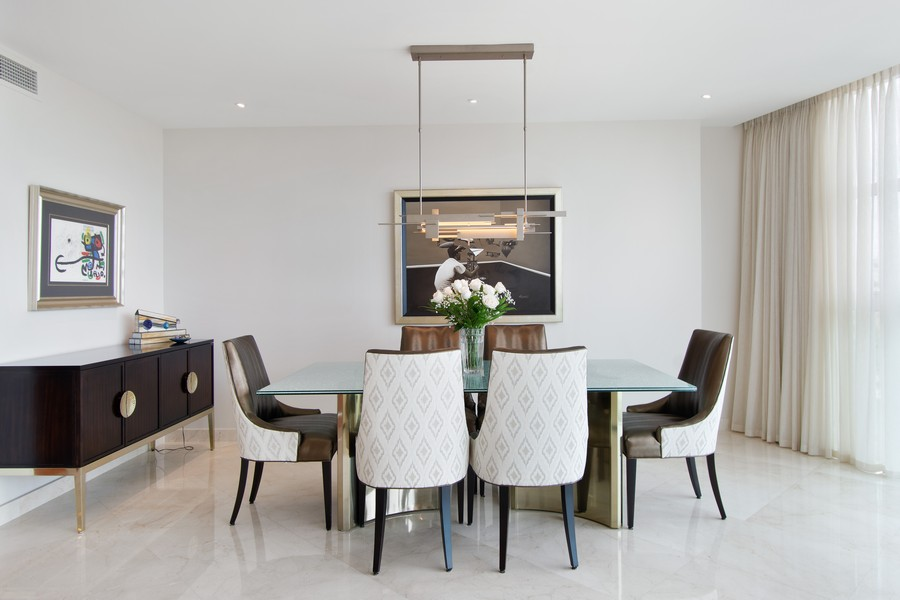Real Estate Photography - 2845 NE 9th St, Unit 905, Fort Lauderdale, FL, 33304 - Dining Room