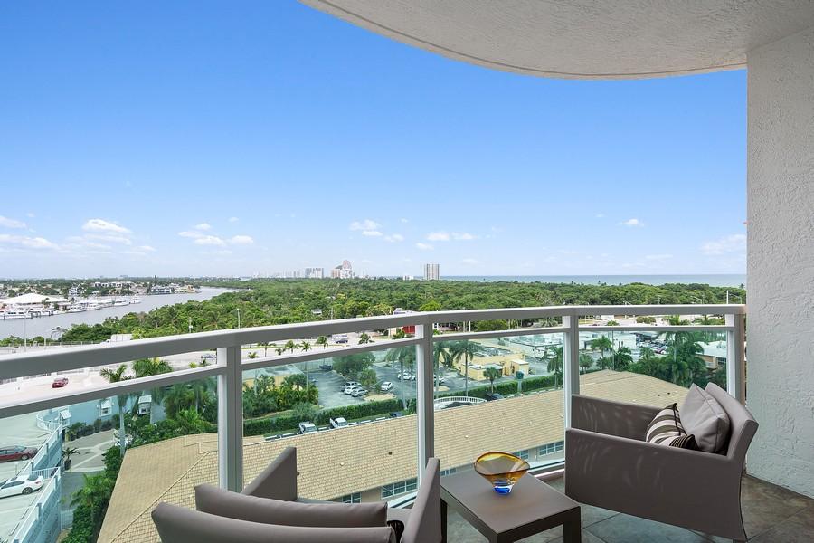 Real Estate Photography - 2845 NE 9th St, Unit 905, Fort Lauderdale, FL, 33304 - Terrace off Master Bedroom #1