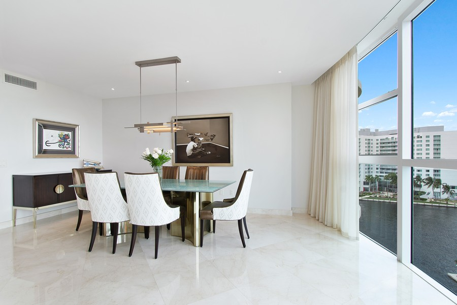 Real Estate Photography - 2845 NE 9th St, Unit 905, Fort Lauderdale, FL, 33304 - Dining Area