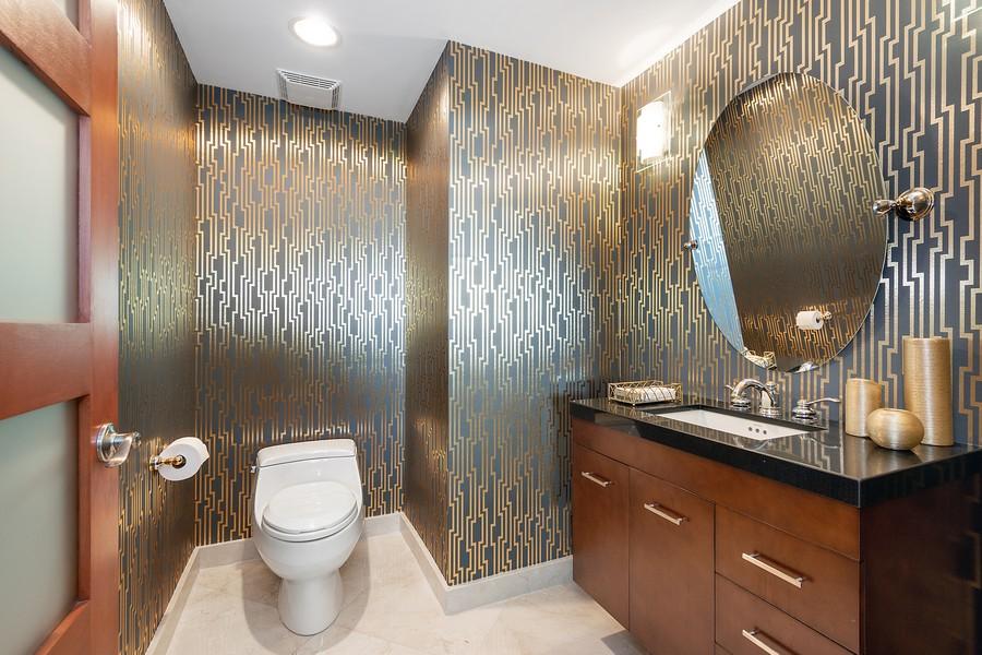 Real Estate Photography - 2845 NE 9th St, Unit 905, Fort Lauderdale, FL, 33304 - Half Bath