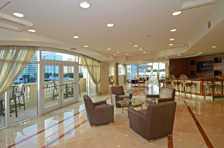 Real Estate Photography - 2845 NE 9th St, Unit 905, Fort Lauderdale, FL, 33304 - Club Room