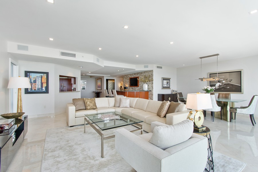 Real Estate Photography - 2845 NE 9th St, Unit 905, Fort Lauderdale, FL, 33304 - Living Room/Dining Room
