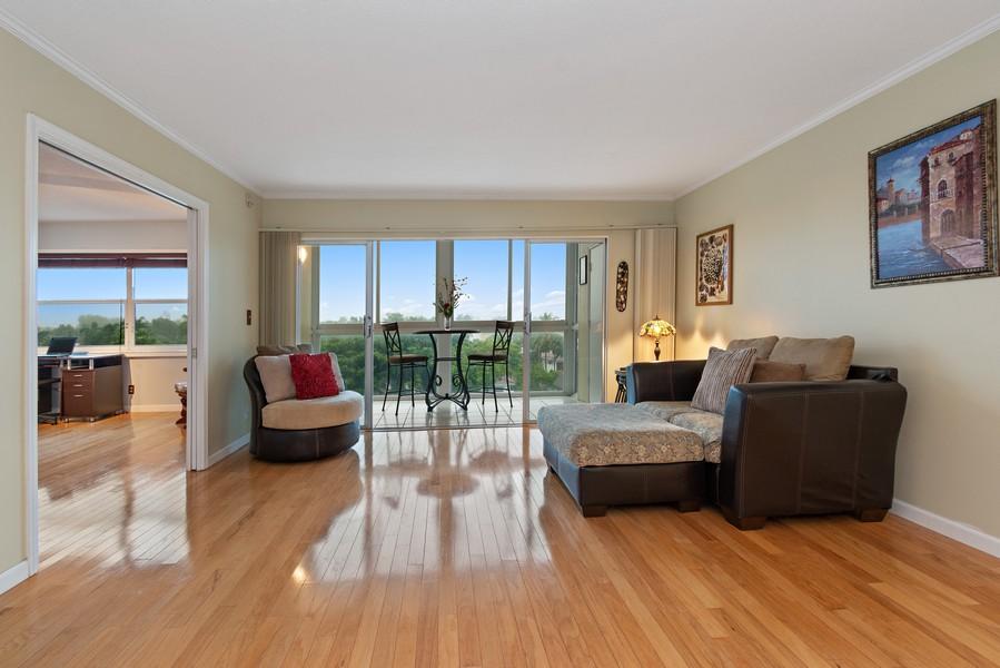 Real Estate Photography - 2829 NE 33 Ct, Unit 401, Fort Lauderdale, FL, 33306 - Living Room