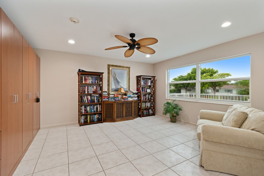 Real Estate Photography - 2829 NE 33 Ct, Unit 401, Fort Lauderdale, FL, 33306 - Library (Located Adjacent to Clubroom)