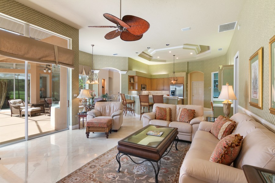 Real Estate Photography - 6618 The Masters Ave, Lakewood Ranch, FL, 34202 - Family Room / Kitchen