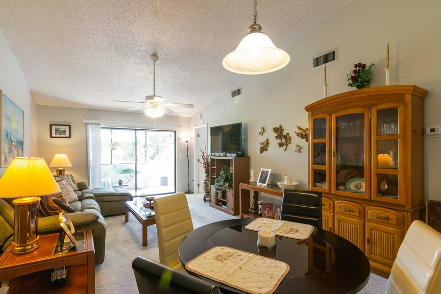 Real Estate Photography - 3607 Longmeadow, 45, Sarasota, FL, 34235 - Living Room/Dining Room
