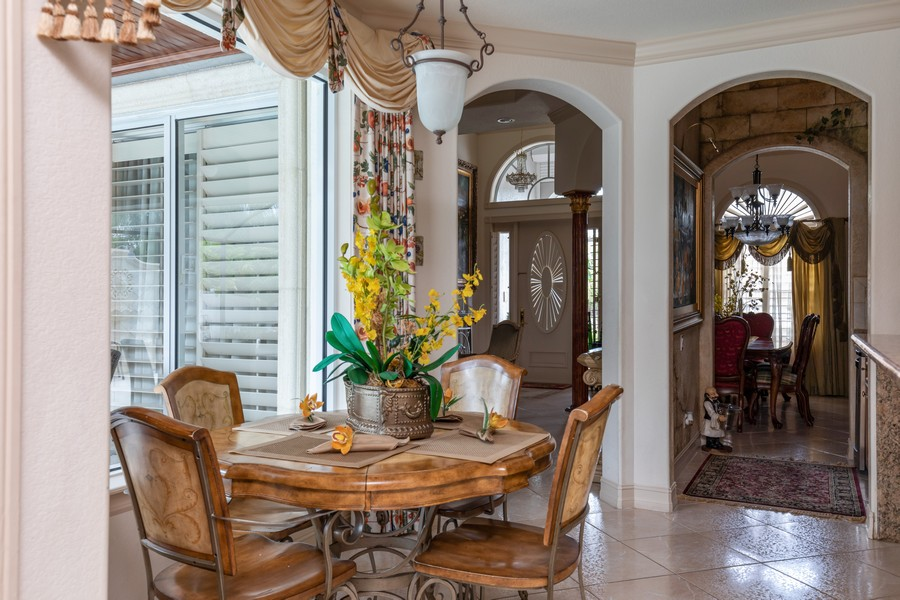 Real Estate Photography - 22 Madison Dr, Naples, FL, 34110 - Breakfast Area