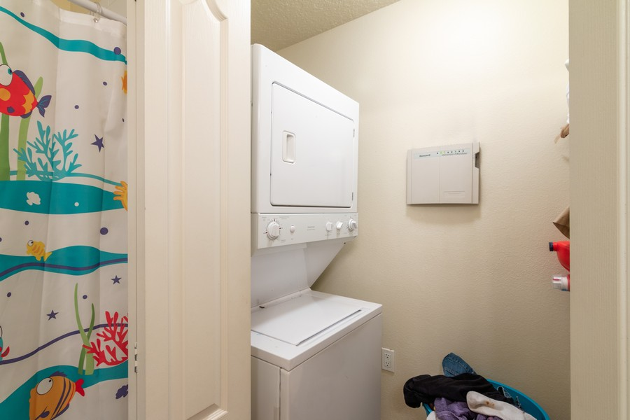 Real Estate Photography - 239 Cape Harbour Loop, Unit 103, Bradenton, FL, 34212 - Laundry Room