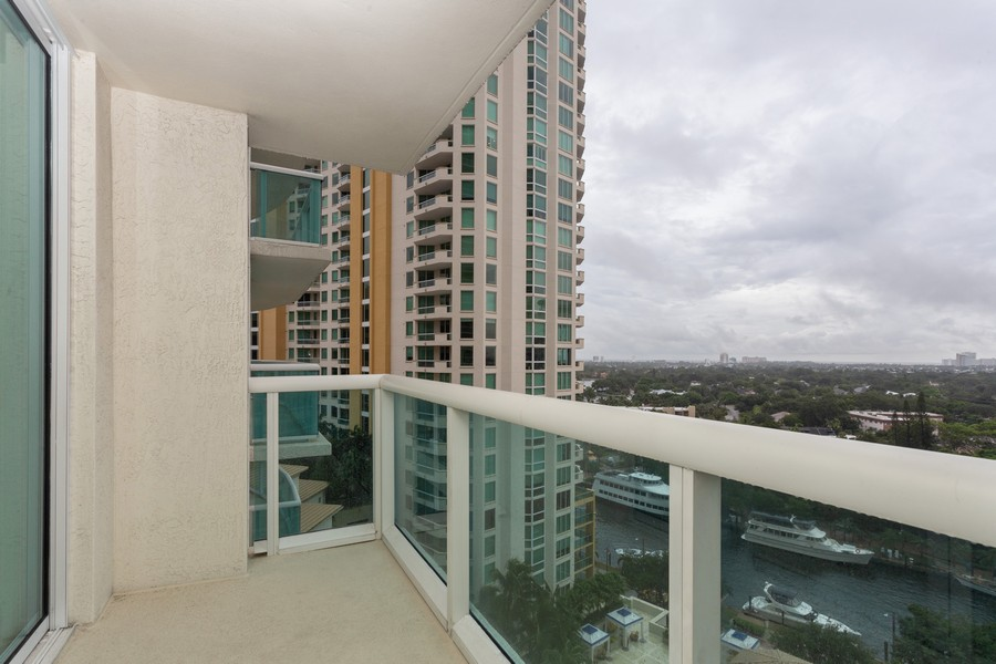Real Estate Photography - 347 N New River Dr, Unit 1411, Fort Lauderdale, FL, 33301 - Balcony
