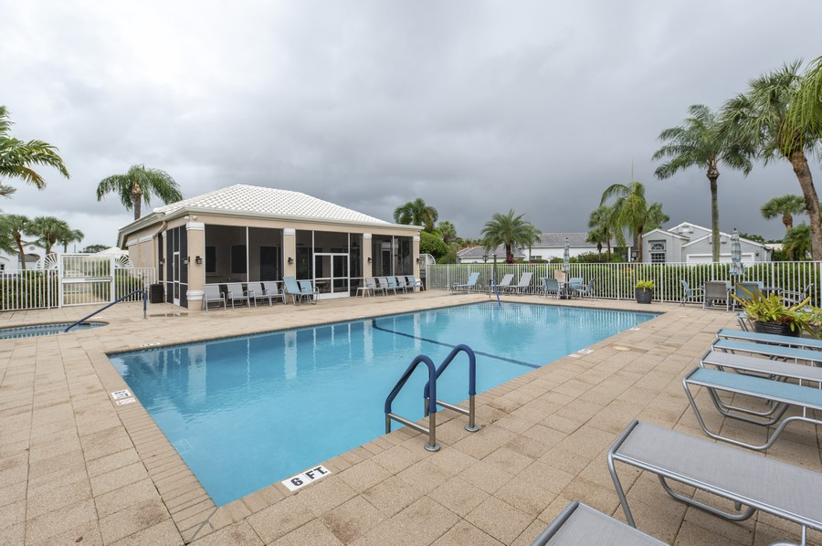 Real Estate Photography - 11877 Fountainside Circle, Boynton Beach, FL, 33437 - Hamptons Community Pool & Clubhouse