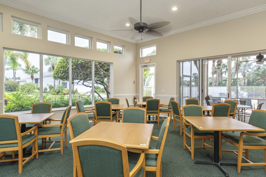 Real Estate Photography - 11877 Fountainside Circle, Boynton Beach, FL, 33437 - Hamptons Community Card Room