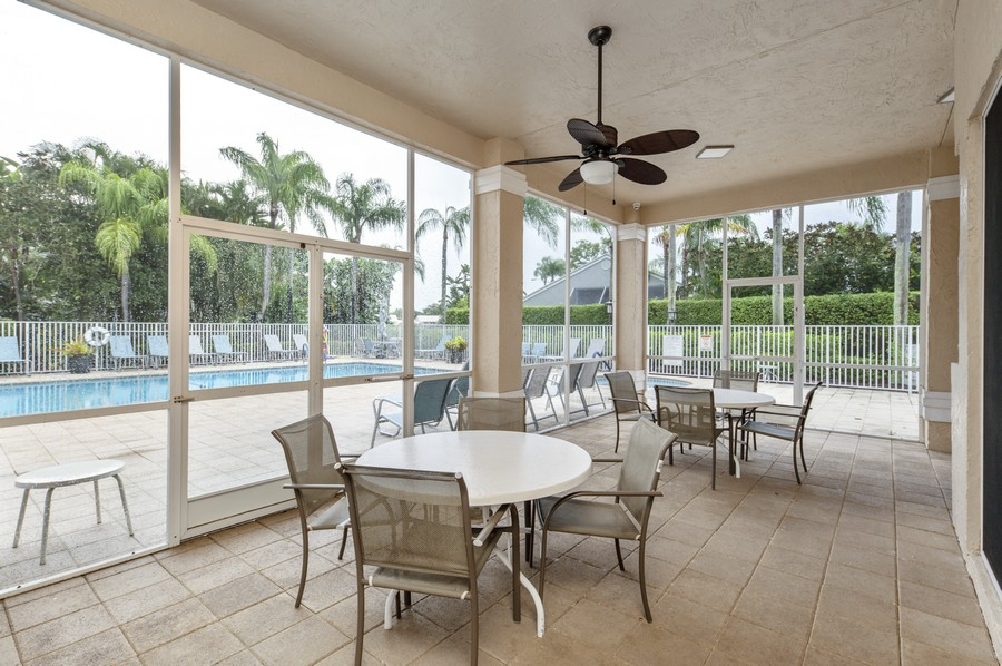 Real Estate Photography - 11877 Fountainside Circle, Boynton Beach, FL, 33437 - Hamptons Community Covered Patio
