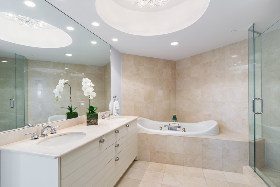Real Estate Photography - 2845 NE 9th St., Unit 601, Fort Lauderdale, FL, 33304 - Master Bathroom