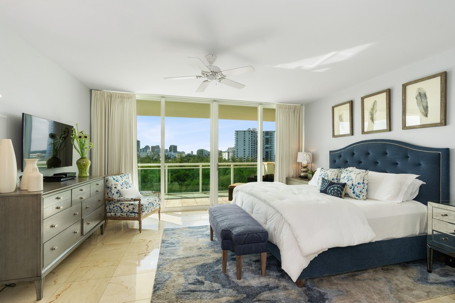 Real Estate Photography - 2845 NE 9th St., Unit 601, Fort Lauderdale, FL, 33304 - Master Bedroom