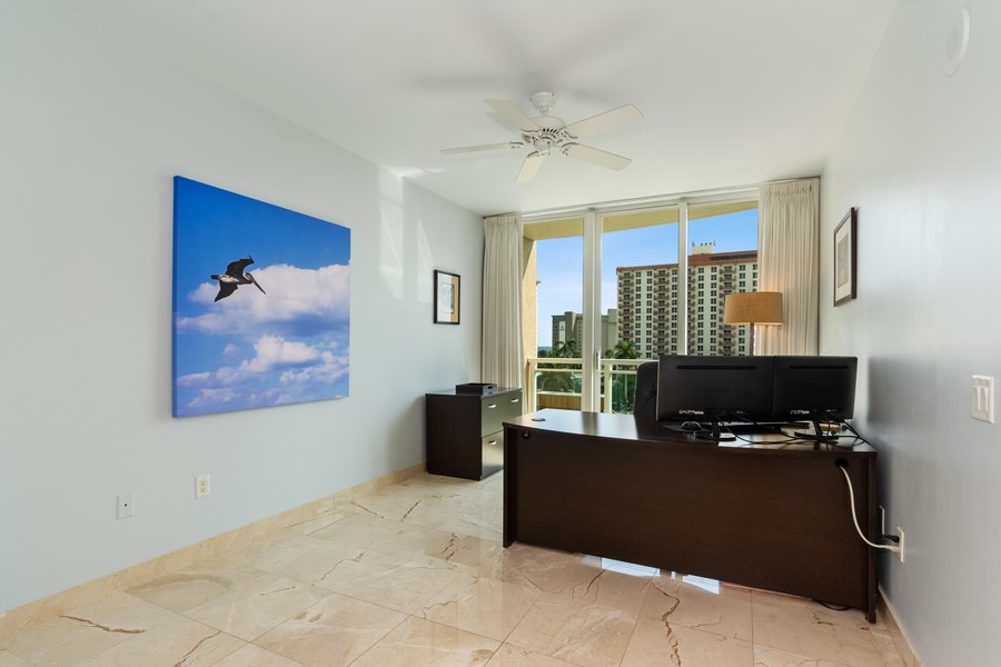 Real Estate Photography - 2845 NE 9th St., Unit 601, Fort Lauderdale, FL, 33304 - 2nd Bedroom (currently used as office)