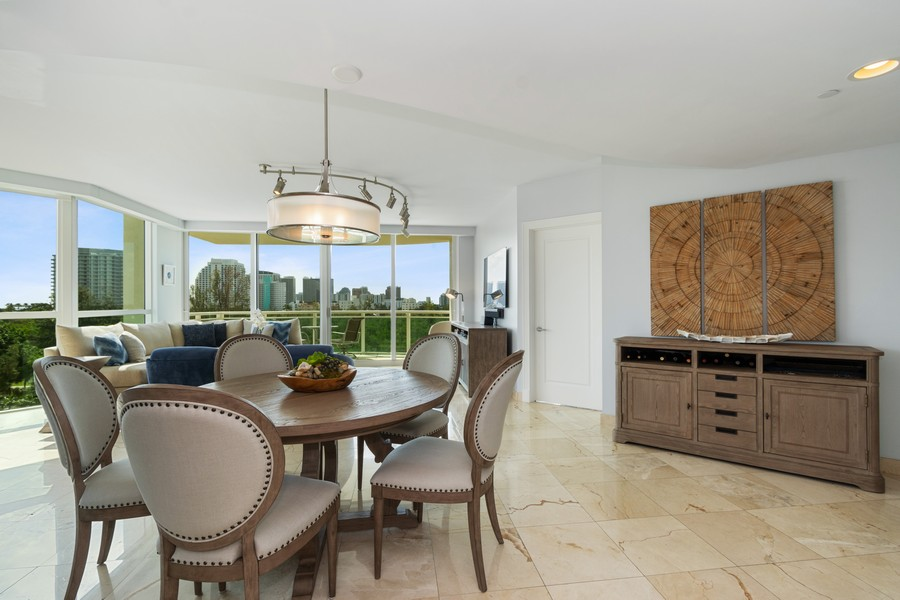 Real Estate Photography - 2845 NE 9th St., Unit 601, Fort Lauderdale, FL, 33304 - Dining Room