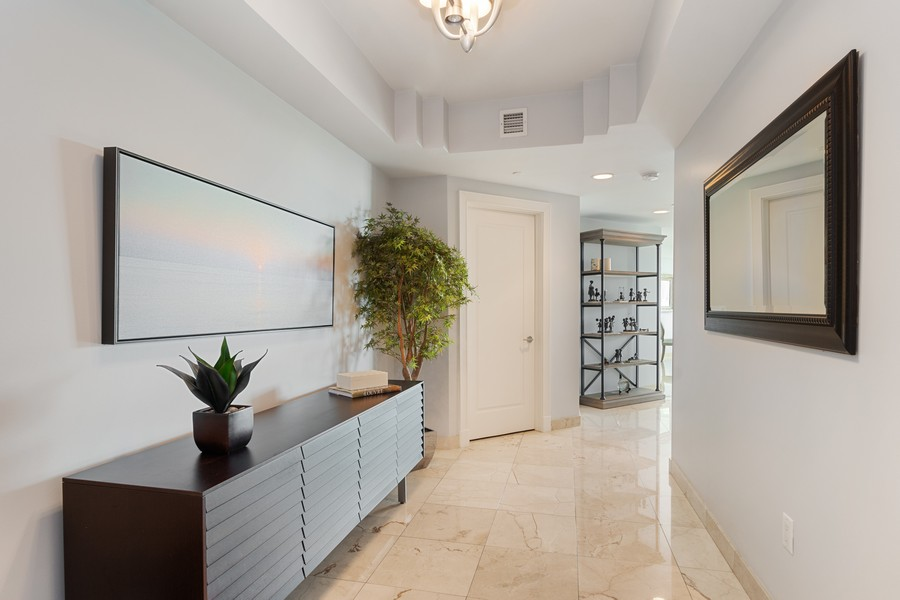 Real Estate Photography - 2845 NE 9th St., Unit 601, Fort Lauderdale, FL, 33304 - Private Elevator Entry Foyer